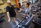 Cardiac Rehab Dr. Paul Oh and patient