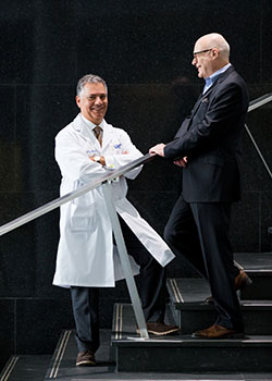 Dr. Barry Rubin (left) and Dr. Harry Rakowski (right)