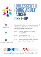 AYA Cancer Meet-Up Poster