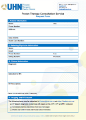 Proton Therapy Request Form