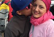 Emily with her husband at Run for the Cure