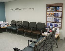 Sarcoma Clinic waiting area