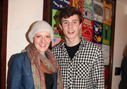 A young patient standing with Shawn Mendes