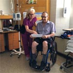 Registered Nurse Jill Peterson and patient Bill Lainsbury