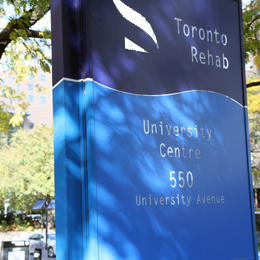 Toronto Rehab front sign