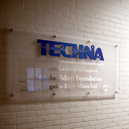Image of Techna name on wall