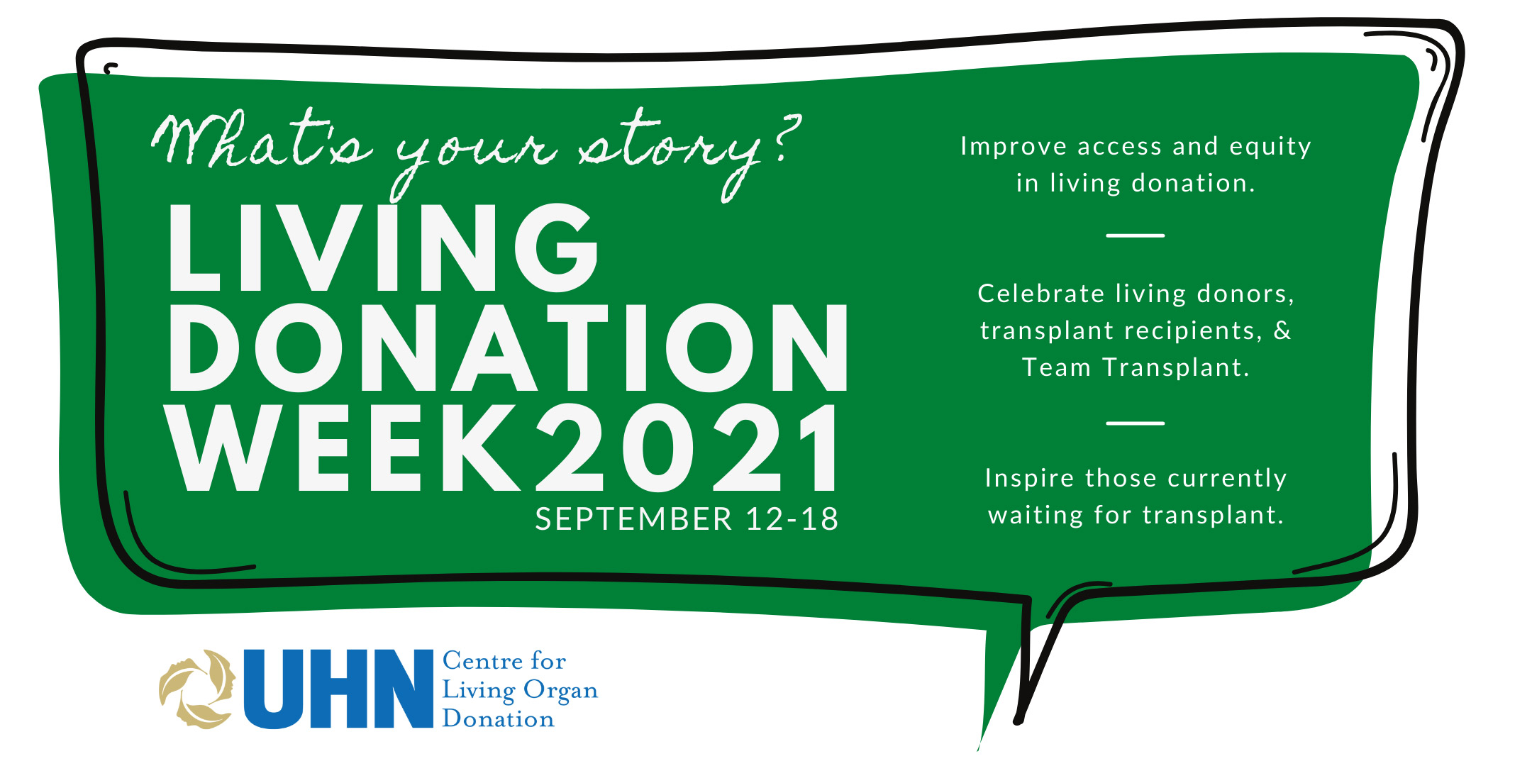 What's your story? Living Donation Week 2021, September 12-18
