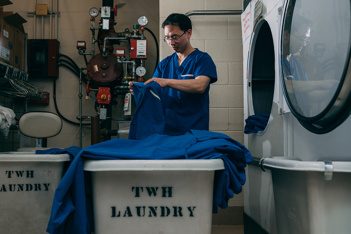 Huy Ly from Laundry/Linen