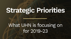 strategic priorities- what UHN is focuing on for 2019-23