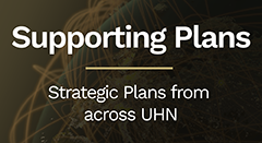 Supporting Plans - Strategic plans fron across UHN