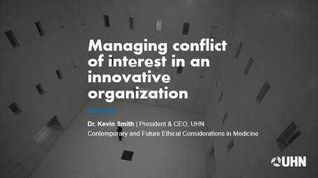 Managing conflict of interest in an innovative organization
