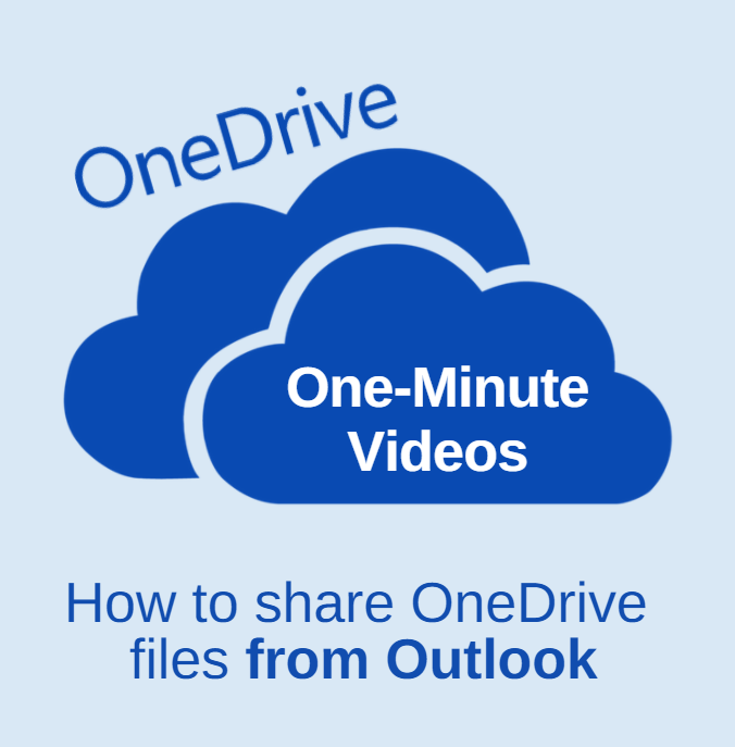 OneDrive share from outlook video humbnail