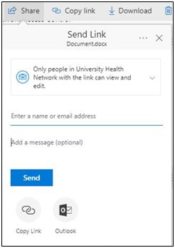 Share Window with UHN Users