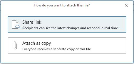 Share With Outlook as separate copy