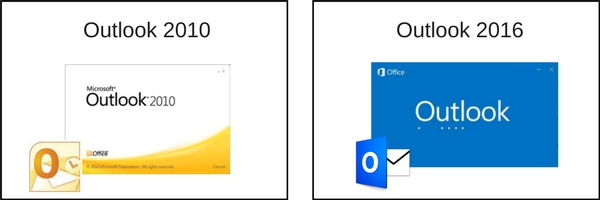 Outlook 2010 vs Outlook 2016