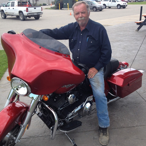 Heart transplant recipient Bill Best loves to ride his motorcycle