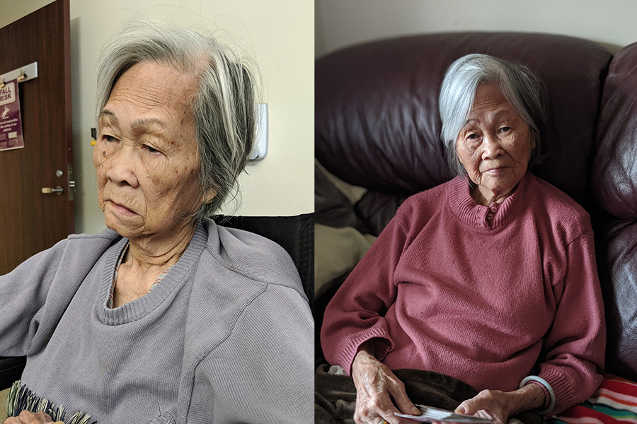 Grandma before and after
