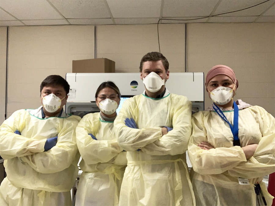 Group shot of lab workers