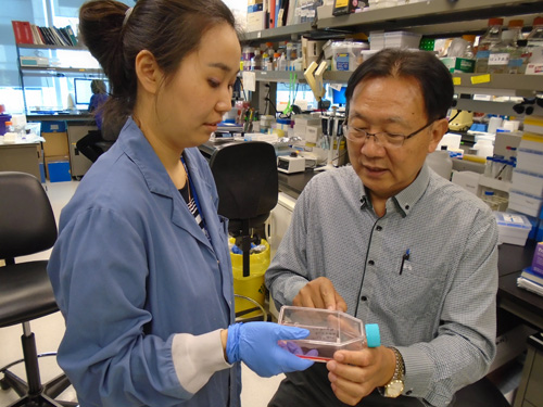 Image of Hyunhee Kim, Ph.D. student and Dr. Mingyao Liu