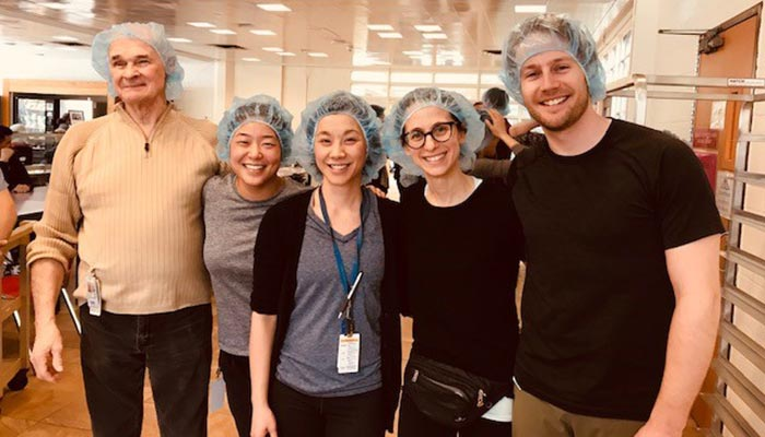staff wearing hair nets