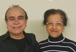 Image of Gurdip Bhatia and his wife, Jasraj