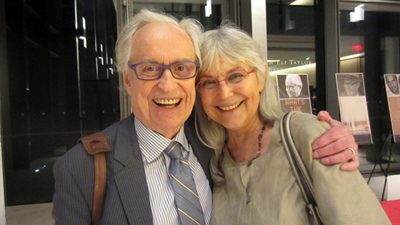 Award-winning poet David McFadden, who is losing his words due to dementia, and his partner, Merlin Homer