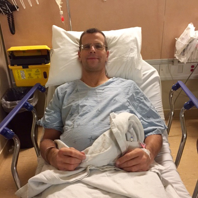 Peter Brouwer before surgery