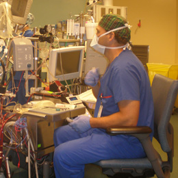 Male Perfusionist At The Pump