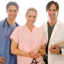 Stock image of doctors and nurses